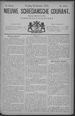 Nieuwe Schiedamsche Courant 1886-10-22