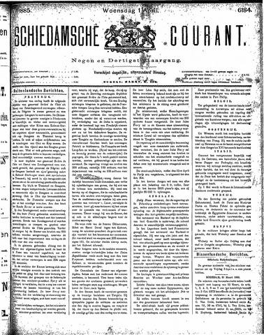Schiedamsche Courant 1885-04-01