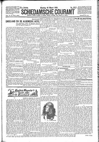 Schiedamsche Courant 1931-03-10