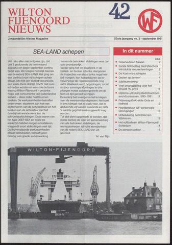 Wilton Fijenoord Nieuws 1991-03-01