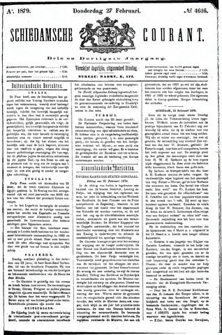 Schiedamsche Courant 1879-02-27