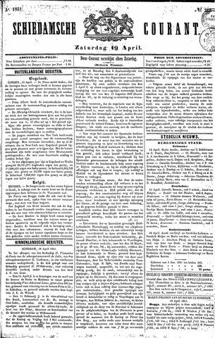 Schiedamsche Courant 1851-04-19