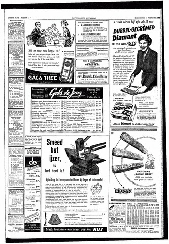 Rotterdamsch Nieuwsblad / Schiedamsche Courant / Rotterdams Dagblad / Waterweg / Algemeen Dagblad 1953-02-19