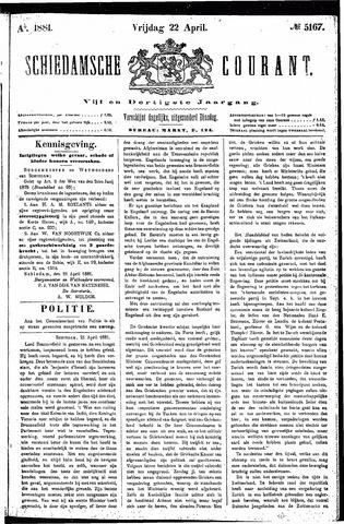 Schiedamsche Courant 1881-04-22