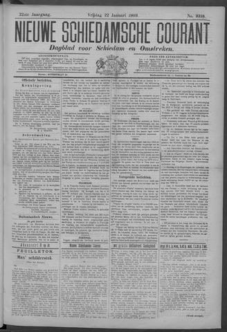 Nieuwe Schiedamsche Courant 1909-01-22