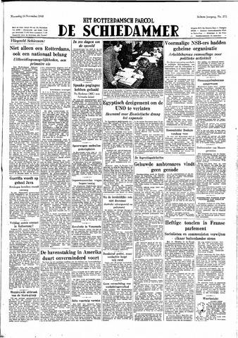 Rotterdamsch Parool / De Schiedammer 1948-11-24