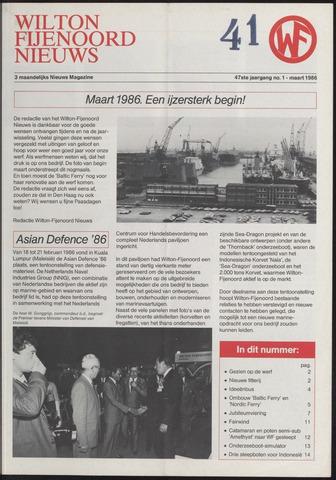 Wilton Fijenoord Nieuws 1986