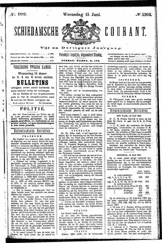 Schiedamsche Courant 1881-06-15
