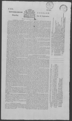 Rotterdamse Courant 1841-09-21