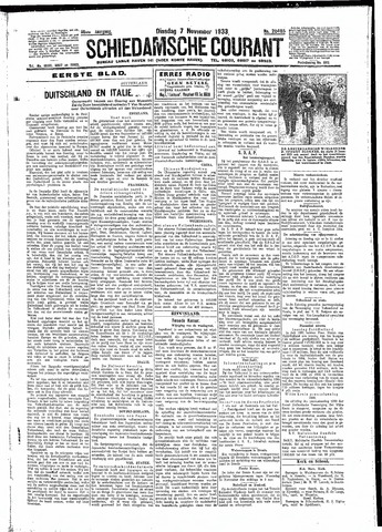 Schiedamsche Courant 1933-11-07