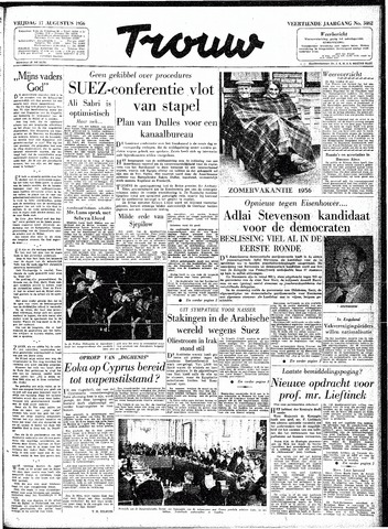 Trouw / De Rotterdammer 1956-08-17