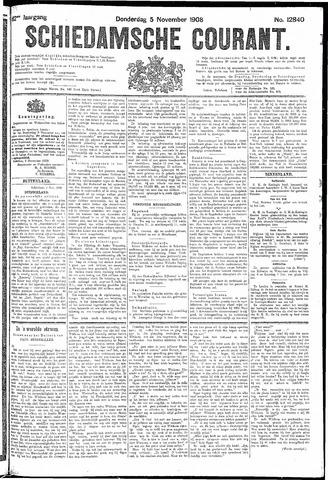 Schiedamsche Courant 1908-11-05
