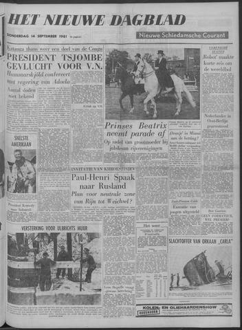 Nieuwe Schiedamsche Courant 1961-09-14