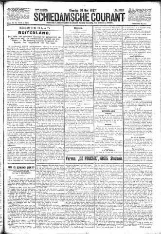 Schiedamsche Courant 1927-05-31