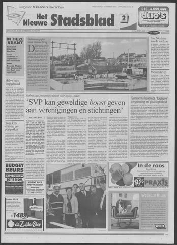 Het Nieuwe Stadsblad 2001-11-08