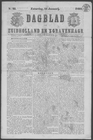 Dagblad van Zuid-Holland 1860-01-14