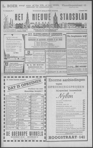 Het Nieuwe Stadsblad 1952-01-04