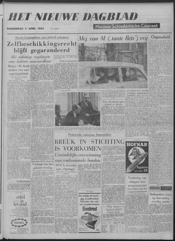 Nieuwe Schiedamsche Courant 1962-04-05