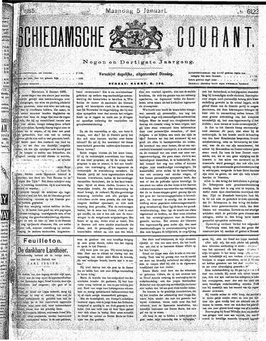Schiedamsche Courant 1885-01-05