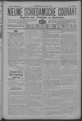Nieuwe Schiedamsche Courant 1918-04-04