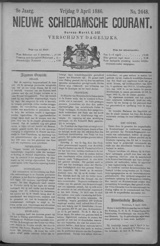 Nieuwe Schiedamsche Courant 1886-04-09