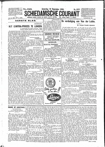 Schiedamsche Courant 1933-09-16