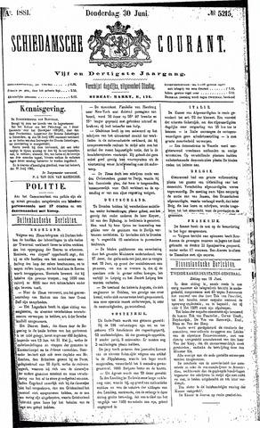 Schiedamsche Courant 1881-06-30