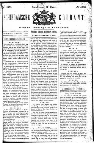 Schiedamsche Courant 1879-03-27