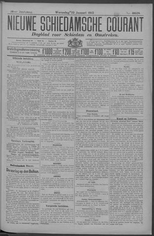 Nieuwe Schiedamsche Courant 1913-01-22