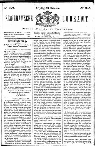 Schiedamsche Courant 1879-10-24