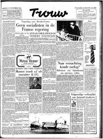 Trouw / De Rotterdammer 1954-11-12