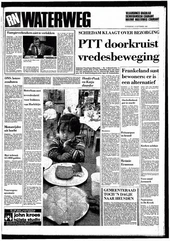 Rotterdamsch Nieuwsblad / Schiedamsche Courant / Rotterdams Dagblad / Waterweg / Algemeen Dagblad 1985-09-12