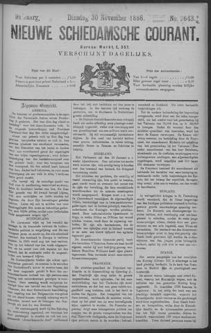 Nieuwe Schiedamsche Courant 1886-11-30