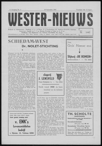 Wester Nieuws 1960-09-29