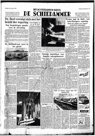 Rotterdamsch Parool / De Schiedammer 1949-02-18