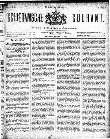 Schiedamsche Courant 1885-04-13