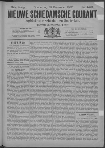 Nieuwe Schiedamsche Courant 1892-12-29