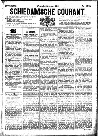 Schiedamsche Courant 1916-01-05