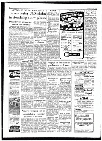 Rotterdamsch Parool / De Schiedammer 1955-07-26