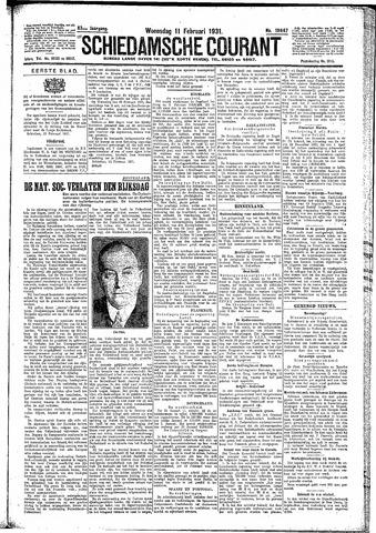 Schiedamsche Courant 1931-02-11