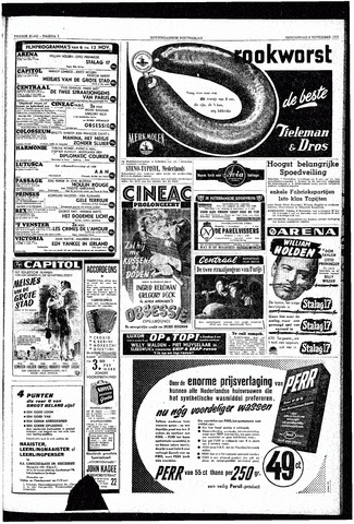 Rotterdamsch Nieuwsblad / Schiedamsche Courant / Rotterdams Dagblad / Waterweg / Algemeen Dagblad 1953-11-05