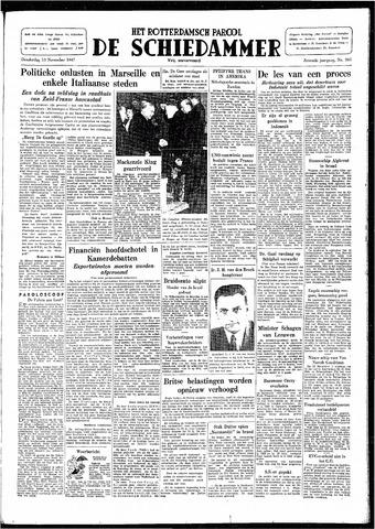 Rotterdamsch Parool / De Schiedammer 1947-11-13