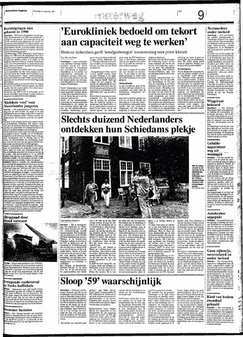Rotterdamsch Nieuwsblad / Schiedamsche Courant / Rotterdams Dagblad / Waterweg / Algemeen Dagblad 1991-08-12