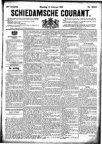 Schiedamsche Courant 1916-02-14