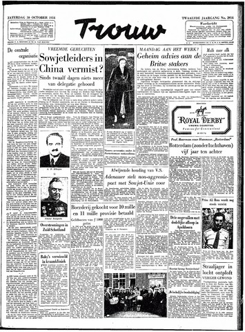 Trouw / De Rotterdammer 1954-10-30