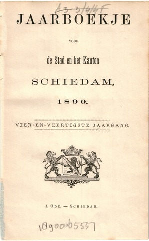 Schiedams Jaarboek 1890-01-01