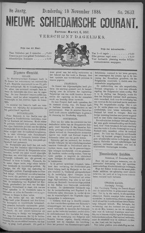 Nieuwe Schiedamsche Courant 1886-11-18