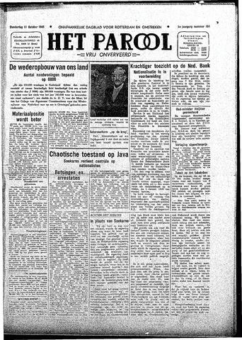 Rotterdamsch Parool / De Schiedammer 1945-10-11
