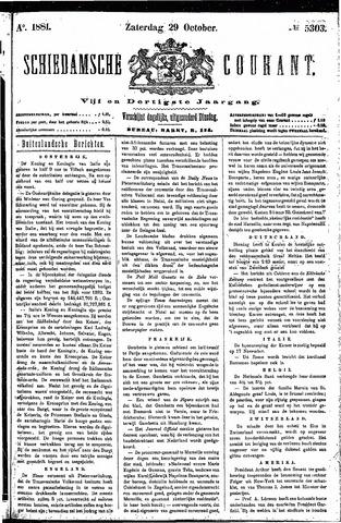 Schiedamsche Courant 1881-10-29