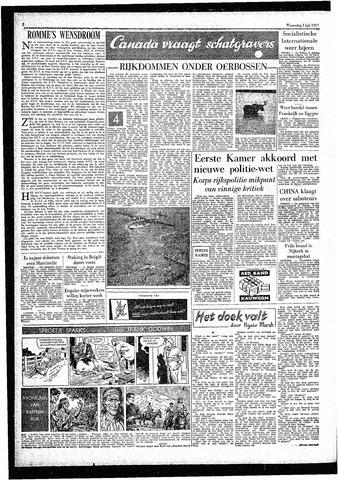 Rotterdamsch Parool / De Schiedammer 1957-07-03